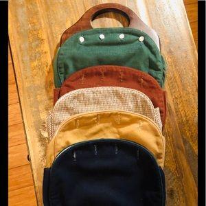 Vintage wood wool handbag interchangeable